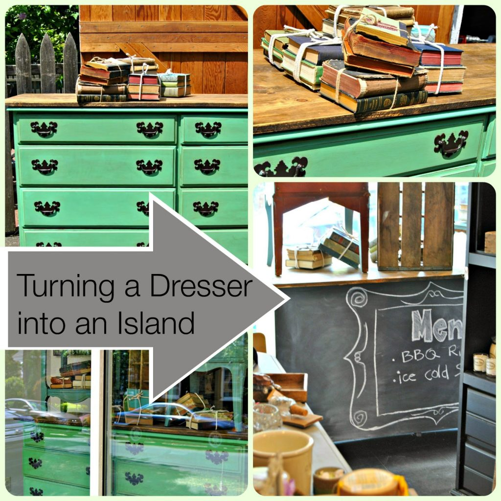 Kitchen Island From Dresser how to turn a dresser into an island