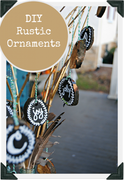 Creating your own rustic ornaments