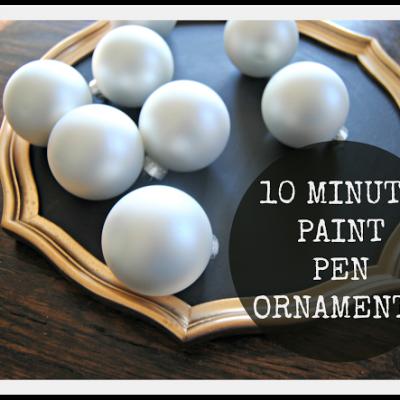 10 Minute Paint Pen Ornaments