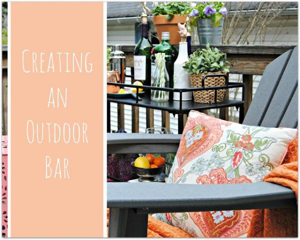 Creating an Outdoor bar.