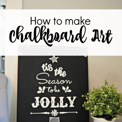 How to Make Chalkboard Art and a FREE printable