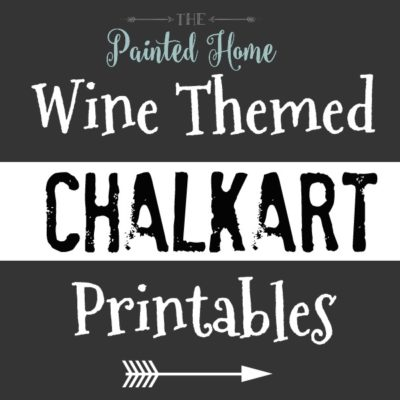 Chalkboard Art…with a WINE theme!