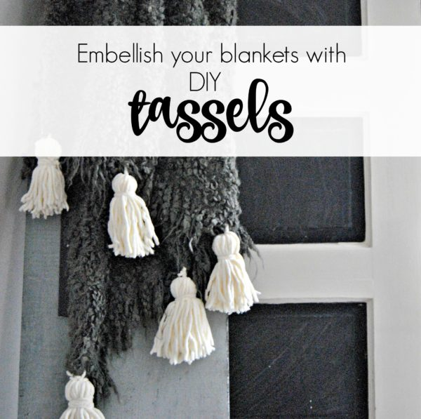 How to Embellish an IKEA Blanket