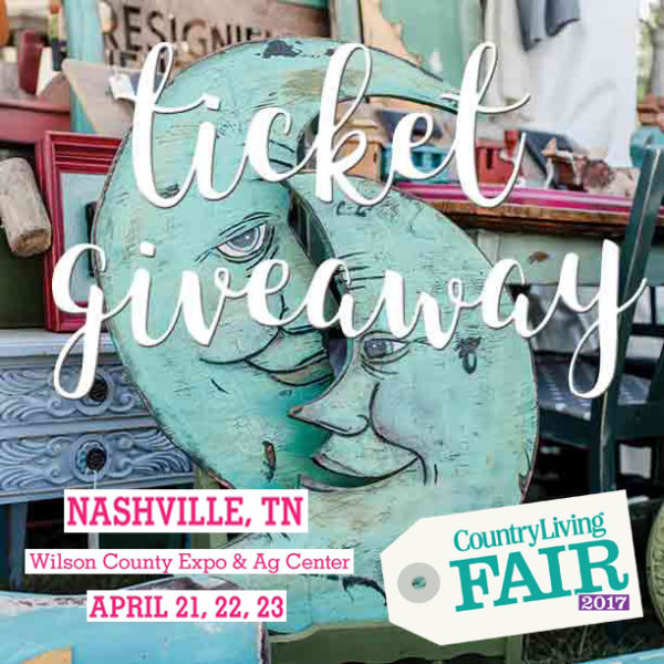 Nashville Country Living Fair Workshops & GIVEAWAY
