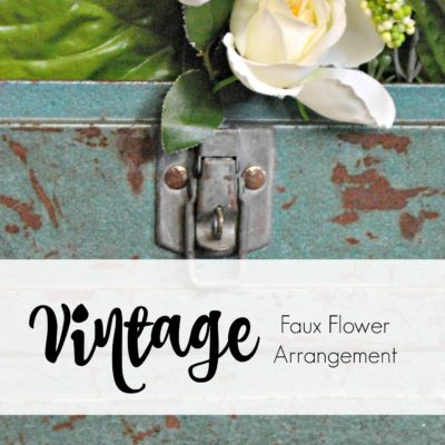 Vintage Tool Box Flower Display