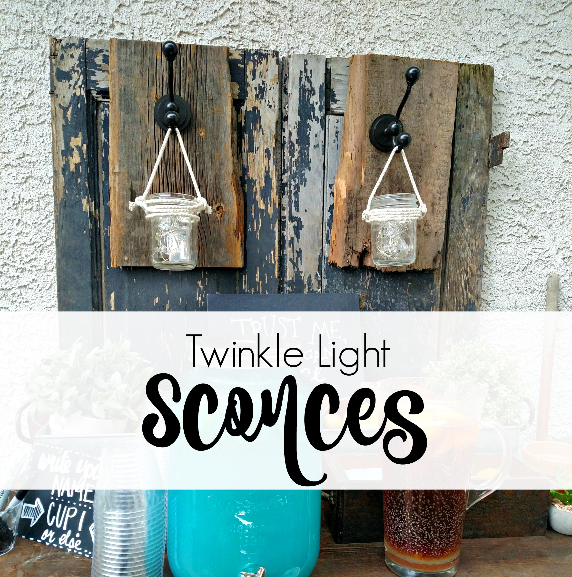 Twinkle light sconces a giveaway the painted home by for Ikea twinkle lights