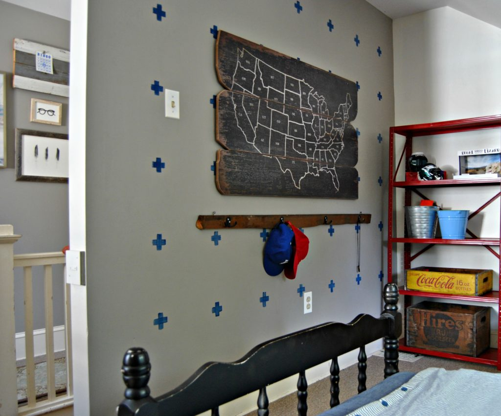 updated vintage boy room note jonas is not a fan of the blue marks on the wall