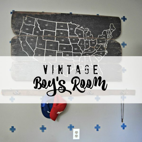 Updated Vintage Boy Room