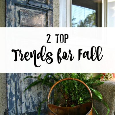The top 2 trends on my Fall Porch