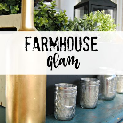 How to add simple glam to your farmhouse decor