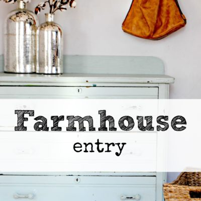 Farmhouse Entry with Style and Function