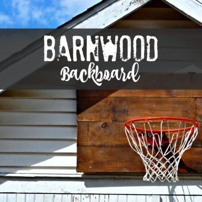 Barnwood Basketball Backboard
