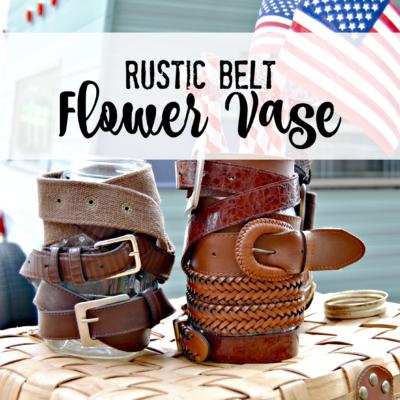 Rustic Belt Flower Vase