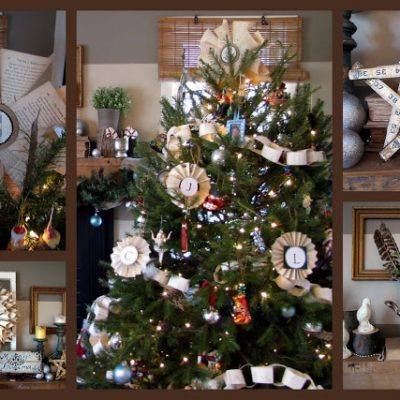 { Our Woodsy Christmas Mantel }