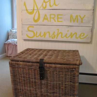 { Sunshine Sign in the Girls' Room }