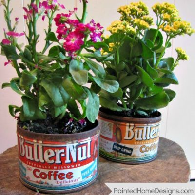 {Coffee Can Vases}