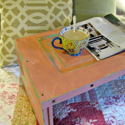 {From Vintage Door to breakfast tray}
