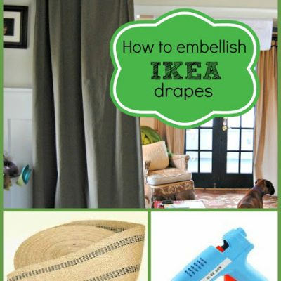 {How to Embellished IKEA Curtain Panels}