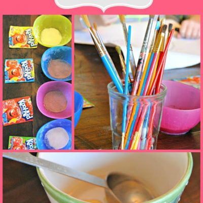{Days off with kids & a scratch and sniff craft project}