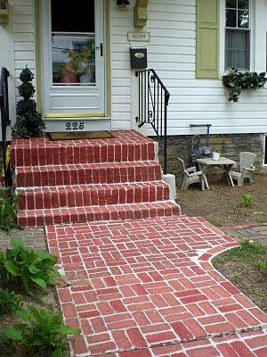 {Painted Brick Walkway}