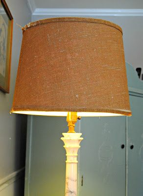 { DIY Fabric Covered lampshade }