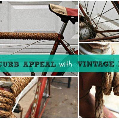 { Vintage Red Bicycle }