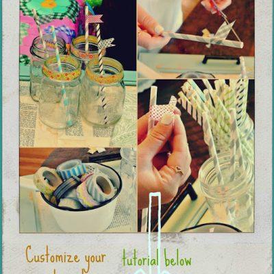 {Customized Straw DIY!}