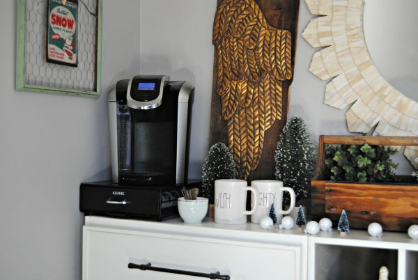 Winter Bedroom Coffee Bar The Painted Home By Denise Sabia