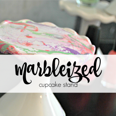 How to make Marbleized Cupcake Stands