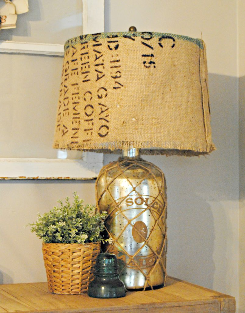 Burlap Covered Lamp Shade The Painted Home By Denise Sabia