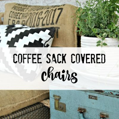 Coffee Sack Covered Chairs