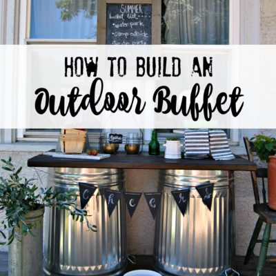 How to Build an Outdoor Buffet