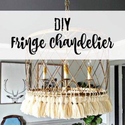 Make a Tassel Fringed Chandelier