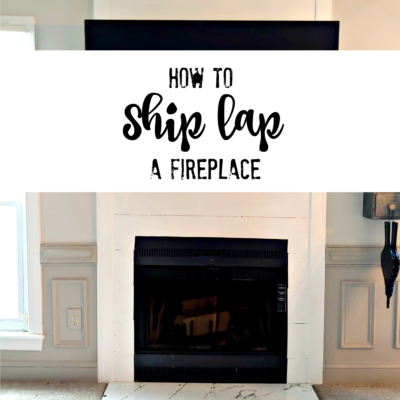 How to Ship lap a Fireplace with Cement Board